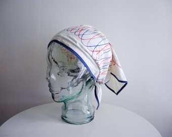 VERA Neumann 50s / 60s mid century cotton head scarf by Spring Tip OS