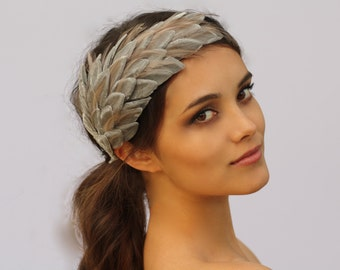 Velvet and Feather Fascinator- The Heather (your choice of color)