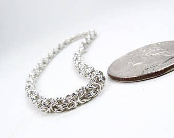 Micro Maille - Sterling Silver - Byzantine Bracelet