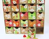 Advent Calendar - Christmas Advent Calendar - Mini Drawers - Kids Advent Calendar - Reusable Advent Calendar - Woodland Animals - Mini Boxes