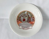 vintage plate, Bomarzo Italy monster park, Tevere, collectible, home decor, kitchen, serving