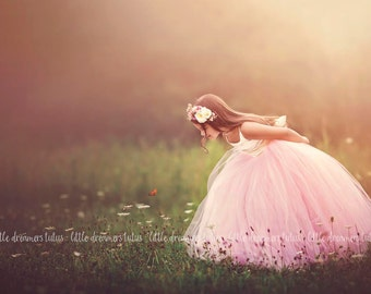 NEW! The Grace Dress in Ivory and Pink Blush - Flower Girl Tutu Dress