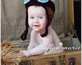 Baby Aviator Hat Cool Crochet Pattern, Bomber Hat Goggles Earflaps, Crochet Newborn Hat For Photography Props, Baby Boy Girl Hat Patterns