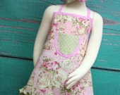 Girls Apron - Kids Ruffle Apron - Vintage Tea Party - Shabby Chic
