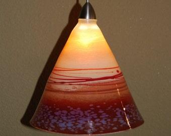 Beautiful Handblown Handmade Pendant Light
