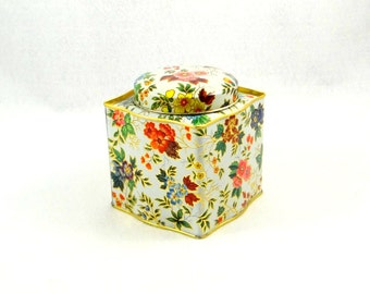 Vintage Daher Floral Tin Made in England