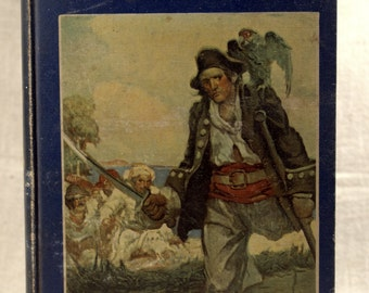 1915 Treasure Island Book * Stevenson * antique book * Schoonover illustrator