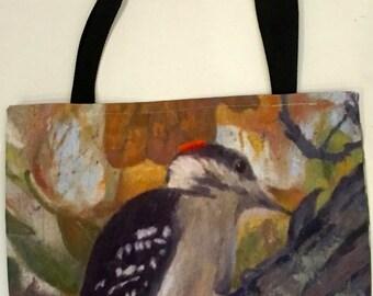 Downey Woodpecker tote