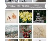 2016 Desk Calendar, Photo Calendar, 5x7 Desk Calendar, Fine Art Photography, 5x7 Calendar, 2016 Calendar, Nature Calendar,Photo Calendar