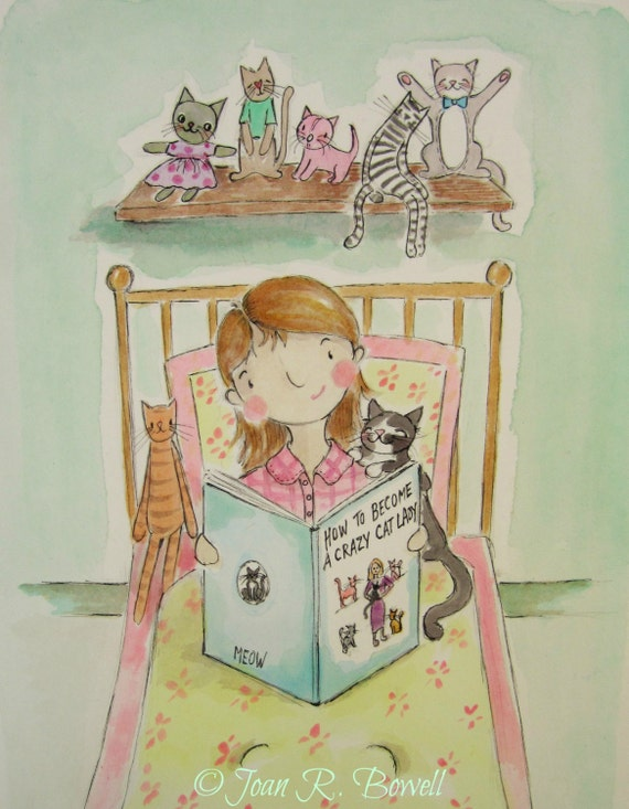 Aspiring cat lady - crazy cat lady - cat lovers - A5 blank card - includes shipping!