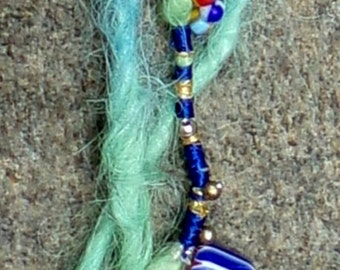 Doll Accent Dreads made with Suri Alpaca 12 inches Stripes