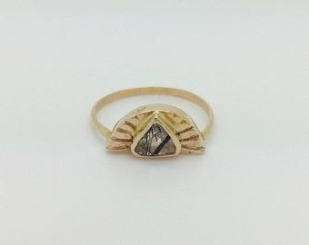 H A N D M A D E / ARUN foggy sunrise ring from The Rajah Press / 14k with rutilated quartz
