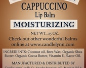 Cappuccino Lip Balm by Candle Lynn - Made with Organic Shea and Cocoa Butters