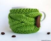 Coffee Cozy. Tea Cozy. Knit Coffee Cozy. Coffee Mug Cozy. Coffee Cup Cozy. Coffee Cup Sleeve. Coffee Sleeve. Knit Coffee Sleeve. Vegan Gift.