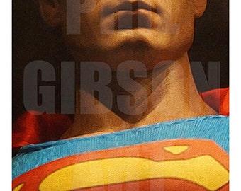 "Original ""You Will Believe"" Superman 10"" x 20"" Art Print Comic Movie Poster"