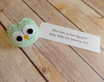 Pregnancy Announcement, Baby Announcement, Owl Baby Announcement