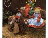Vintage Jingles the Clown Doll Sewing Pattern Heartfelt Friends by Gingham Goose