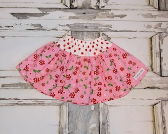 Ready to Ship! Cherry Pop Twirl Skirt Size 2T 3T Handmade by That's So Addie Made in USA