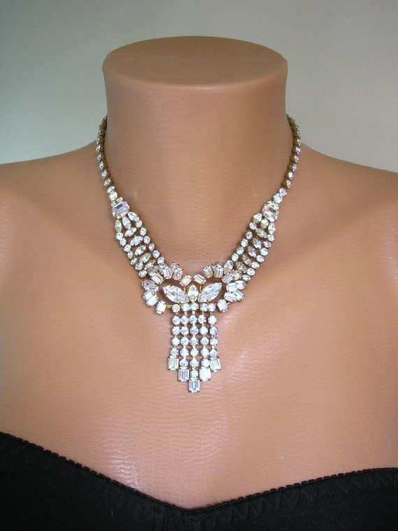 Great Gatsby Jewelry Statement Necklace Art Deco Jewelry