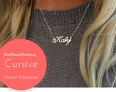 Cursive Name Necklace, Name Necklace with Birthstone, Custom Name Necklace, Personalized Necklace with name, Brooklyn Style