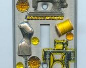 Sewing Seamstress Dressmaker Theme Original Light Switch Cover