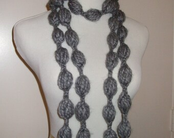 Bubble infinity chain crochet scarf, Circle Scarf, Infinity Scarf