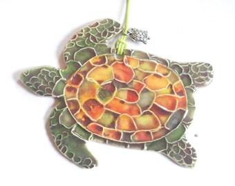 Ceramic Watercolor Tortoise Ornament