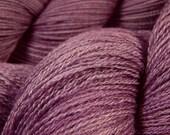 Hand Dyed Yarn - Lace Weight Silk / Merino Wool Yarn - Potluck Light Amethyst - Knitting Yarn, Lace Yarn, Wool Silk Yarn, Lavendar Purple