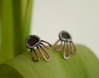 Black Eyed Susan - Limited Edition Post Earrings - Spring Floral Studs - Spring Fashion - For Her Under 50 - Unique Handmade Jewelry - Eco
