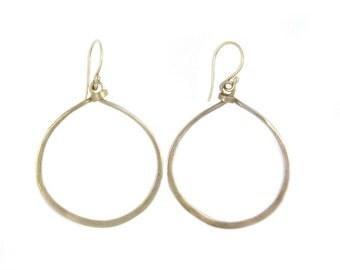 Bronze Hoops -  Hammered Metal Earrings - Boho Jewelry - Artisan Earrings - Gold Hoop Earrings - Handcrafted Jewelry - Sun Valley Hoops