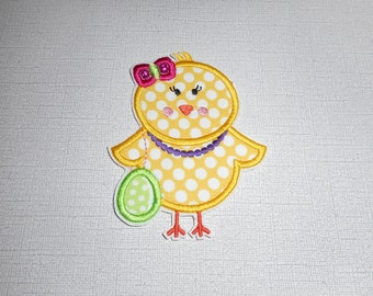 Easter chick  Ready to Ship Free Shipping  machine embroidery  iron on applique