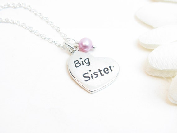 Big Sister Necklace // Sister Necklace // Big Sister Gift // Big Sister Jewelry // Silver Sister Necklace