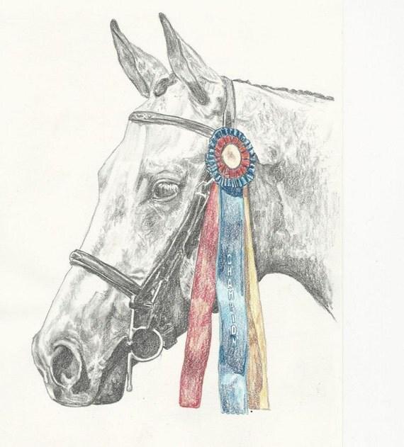 Show Horse Jumper Hunter Pony Print