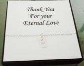 Cut Out Double Heart Tag Sterling Silver Necklace ~~Personalized Jewelry Gift Card for Mom, Friend, Best Friend, Sister