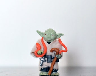Vintage Yoda, Star Wars Action Figure, Complete Yoda Figure, Empire Strikes Back, Star Wars Toy, Master Yoda Figure, Kenner, 1980