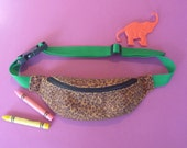Fuzzy Cheetah Print Kids Fanny Pack - READY TO SHIP