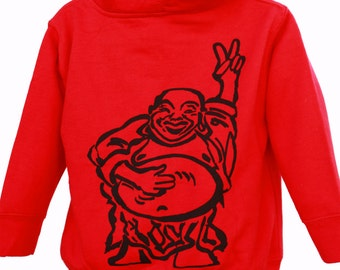Happy Lucky Buddha| Toddler full zip soft fleece hoodie| Hotei| Peace sign| Ohm| Great gift ideas| 2T, 4T, 5/6T| Winter jacket| Children.
