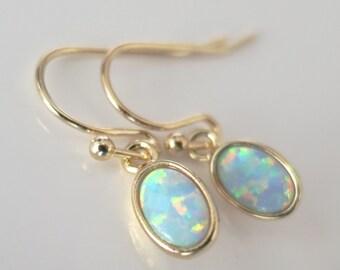 Opal Earrings,Mint Opal Earrings,Mint Drop Earrings MINI,Modern Minimal Jewelry,Minimalist Tiny Earrings,Minimalist Jewelry,Gift to Her