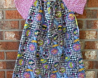 Superhero Girl Power Polka Dot Dress Sized 6 Ready to Ship Gift