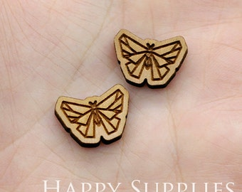 4pcs (SWC174) DIY Laser Cut Wooden Butterfly Charms