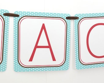 Name Banner - Made to Match Puppy Party Birthday Banner