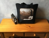 Vintage Grand Canyon Photograph - High Quality Image Transfer on Small Black Handbag Tote - Canvas Bag - Essentials- 1903 Vintage Photograph
