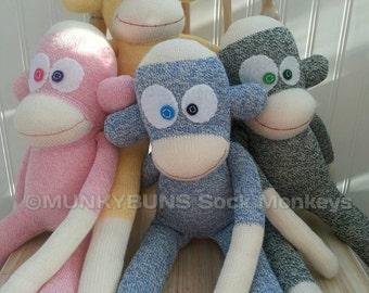 Traditional Rockford Red Heel Sock Monkeys