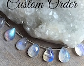 Custom Order for musicandcakes, Rainbow Moonstone Charm Pendant With Freshwater Pearl