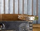 CUSTOM HANDSTAMPED CUFF - bracelet - personalized by Farmgirl Paints - narrow gold glitter cuff