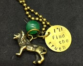 Pidge Voltron Legendary Defender Inspired Hand Stamped Pendant Green Paladin