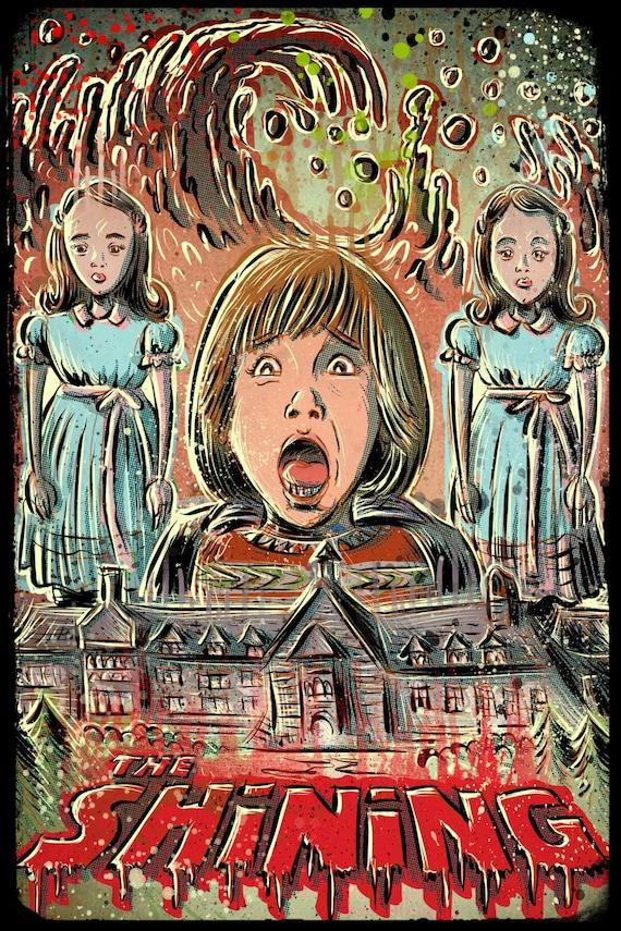 The Shining art print joe badon stanley kubrick movie film horror stephen king scary redrum twins danny blood room 237 overlook hotel murder
