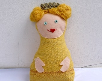 The princess, handwoven softie, plush, pillow