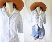 Vintage Botanical Button blouse