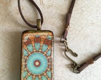 Moroccan Tile Pendant, Tile Pendant, Domino Tile Pendant, Boho Pendant